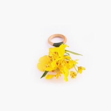 Porta Guardanapo Orquídea Chuva de Ouro - ATELIER COUVERT