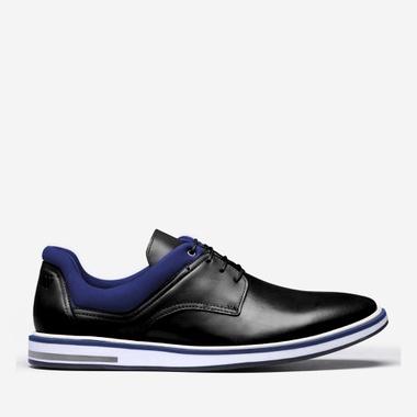 Derby Masculino Apolo Black Couro - We Basic - Sapatos Masculinos