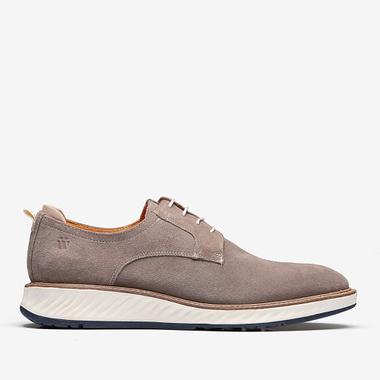 Sapato Masculino Derby Mancini Camurça Camel - We Basic - Sapatos Masculinos