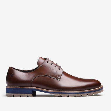 Sapato Masculino Derby - Florence Caramelo - We Basic - Sapatos Masculinos