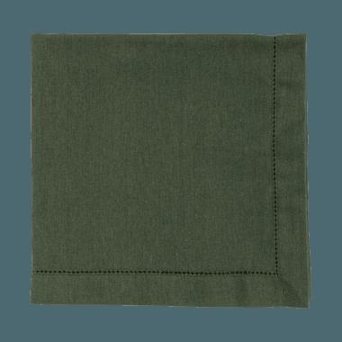 Guardanapo linho verde militar - ATELIER COUVERT