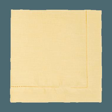 Guardanapo Cambraia de Linho Amarelo Claro - ATELIER COUVERT