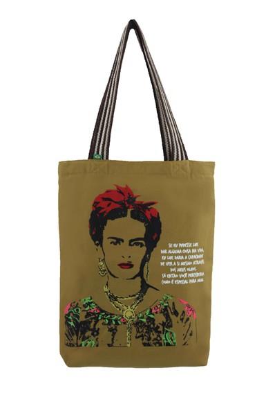 Bolsa Frida Kahlo Olhos Cru