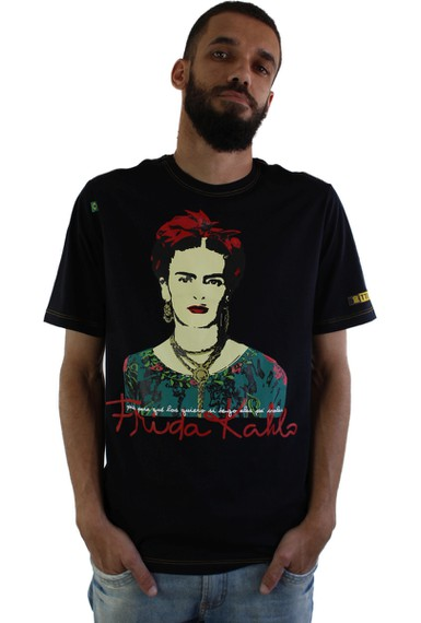 Camiseta Frida Kahlo Alas Preta