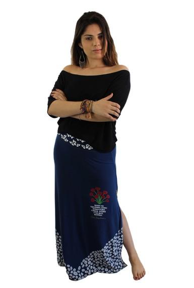 Saia Cora Coralina Azul