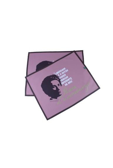 Jogo Americano Rosa Luxemburgo Lilás