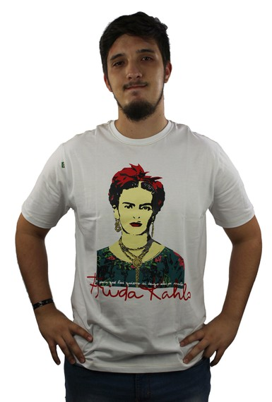 Camiseta Frida Kahlo Alas Branca