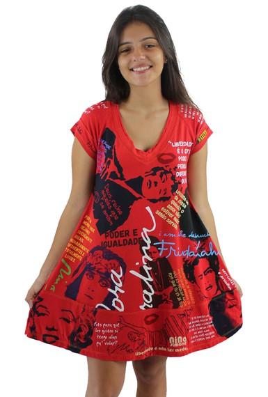 Vestido Coleção Mulheres Vermelho