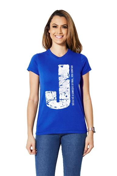 Camiseta Baby Look Jesus - IPROMOVE