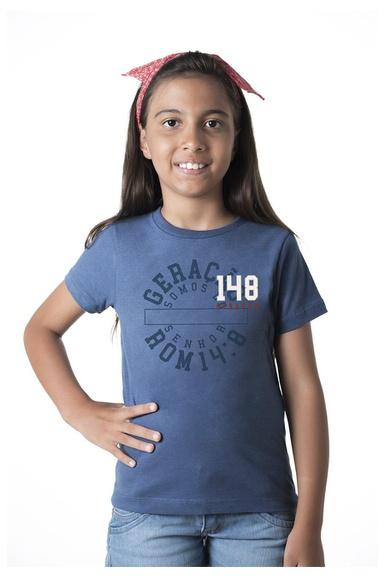 Camiseta infantil Geração 148 2019 Azul Cobalto - IPROMOVE
