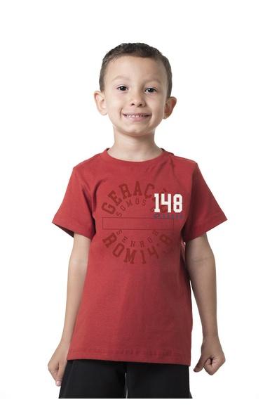 Camiseta Infantil Geração 148 2019 Vermelho Terra ... - IPROMOVE
