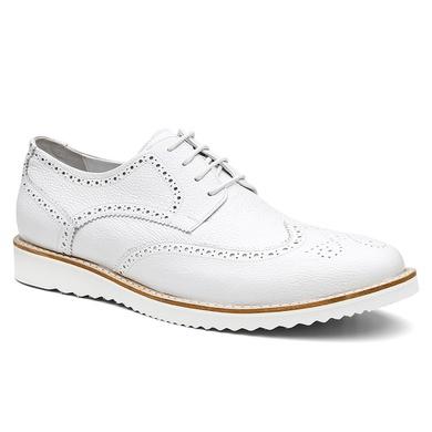 Sapato Brogue Bernatoni Milão Branco - Bernatoni