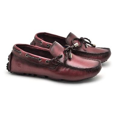 Mocassim Bali Infantil de Couro - Vinho - 03961K-2575 - Calçados Laroche