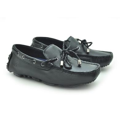 Mocassim Bali Infantil de Couro - Preto - 03961K-2571 - Calçados Laroche