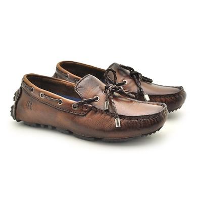 Mocassim Bali Infantil de Couro - Whisky - 03961K-2573 - Calçados Laroche