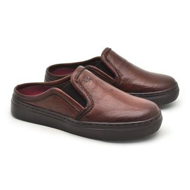 Babuche Infantil Stratus em Couro - Brown - 07853K-1894 - Calçados Laroche