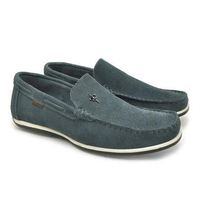 Mocassim Buzios Masculino de Couro - Jeans - 03244-2971 - Calçados Laroche