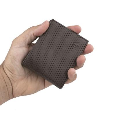 Carteira Slim Masculina Laroche em Couro - Tabaco - 02160-2802 - Calçados Laroche