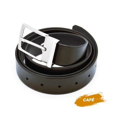 Cinto Masculino Dupla Face - Café - 02500-1318 - Calçados Laroche