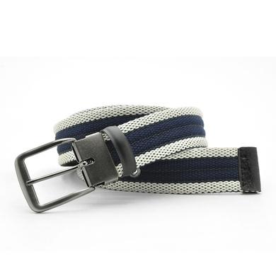 Cinto Laroche Masculino Sport Luxo- Azul/Palha - 02001-2739 - Calçados Laroche