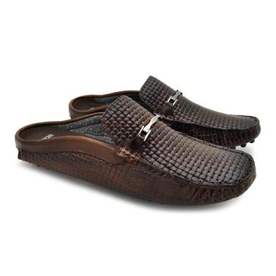 Mule Drive em Couro Aruba Masculino Tressê - Mogno - 03810-2445 - Calçados Laroche