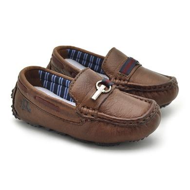 Mocassim Bali Babie de Couro - Brown/Vinho - 03989-2688 - Calçados Laroche