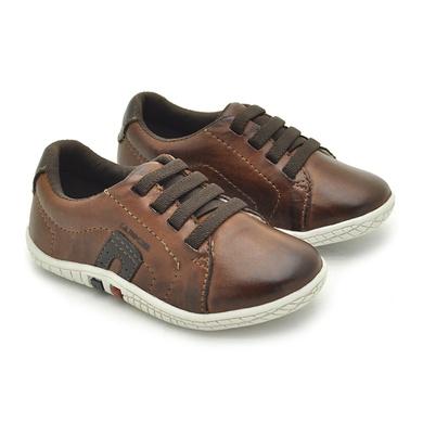 Sapatenis Laroche Babie Couro - Brown - 06294-2632 - Calçados Laroche