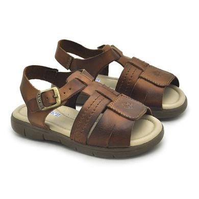 Sandália Babie Summer em Couro-Whisky - 04582-2227 - Calçados Laroche