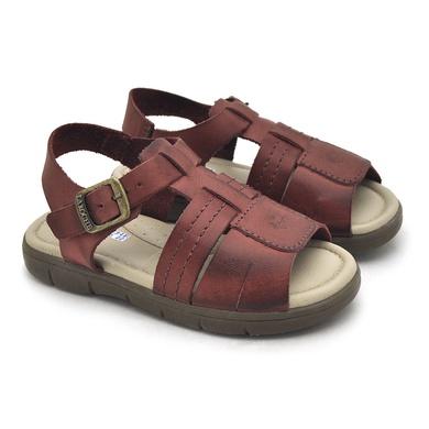 Sandália Babie Summer em Couro - Vinho - 04582-2255 - Calçados Laroche