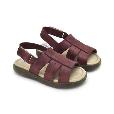 Sandália Babie Summer em Couro-Vinho - 04584-2255 - Calçados Laroche