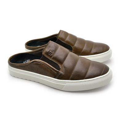 Mule Masculino Connect em Couro - Chocolate - 07306-1560 - Calçados Laroche