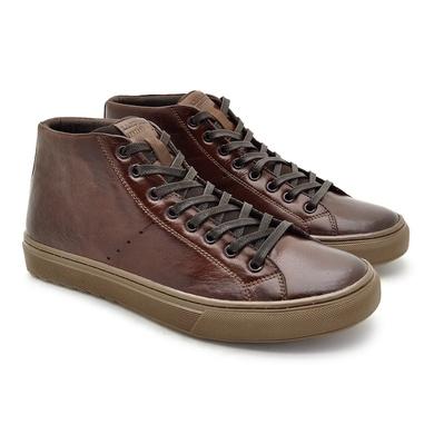 Sapatenis em Couro Casual Masculino Connect - Brown - 07309-2965 - Calçados Laroche