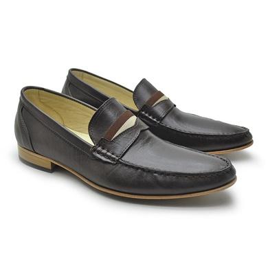Sapato Italiano Firenze em Couro Café Laroche - 01102-2572 - Calçados Laroche