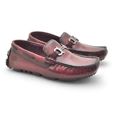 Mocassim Bali Infantil de Couro - Vinho - 03963K-2590 - Calçados Laroche