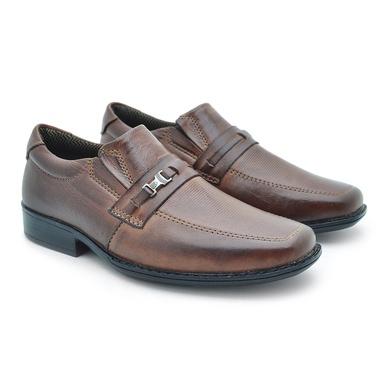 Sapato Social Fortaleza Infantil em Couro - Brown - 02662-1894 - Calçados Laroche