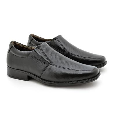 Sapato Social Fortaleza Infantil em Couro - Preto - 02663-1625 - Calçados Laroche