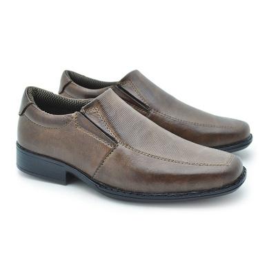 Sapato Social Fortaleza Infantil em Couro - Chocolate - 02663-1560 - Calçados Laroche