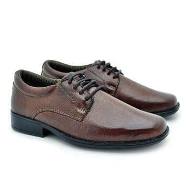 Sapato Social Fortaleza Infantil em Couro - Brown - 02665-1894 - Calçados Laroche