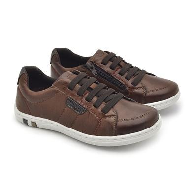 Sapatenis Infantil Pix em Couro - Brown - 06351-2632 - Calçados Laroche