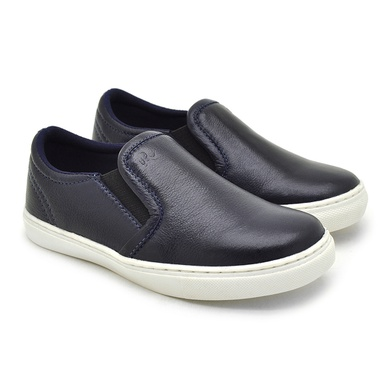 Slip On Yate Infantil Stratus em Couro Azul - 07854K-2119 - Calçados Laroche
