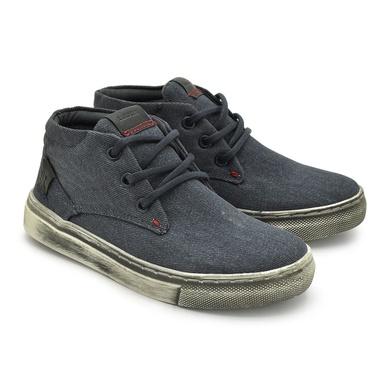Sapatenis Infantil Stratus Eco Masculino em Lona - Azul Jeans - 07871-2416 - Calçados Laroche