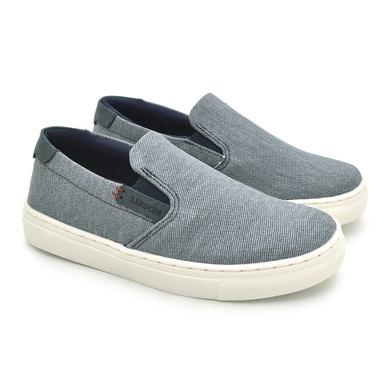 Slip On Yate Infantil Stratus em Lona Jeans - 07876-3005 - Calçados Laroche