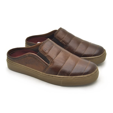 Babuche Infantil Stratus em Couro - Brown - 07957-1894 - Calçados Laroche