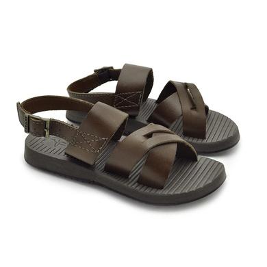 Sandália Infantil Toledo em Couro - Mel - 04654-2783 - Calçados Laroche
