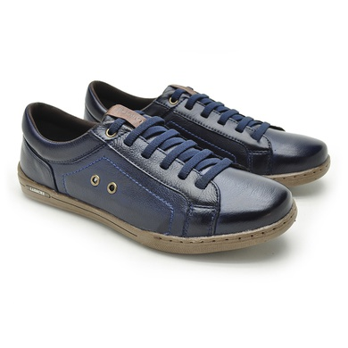 Sapatenis Boxter Masculino em couro Azul - 06702-2117 - Calçados Laroche