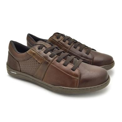 Sapatenis Boxter Masculino em Couro - Brown/Chocolate - 06703-1968 - Calçados Laroche