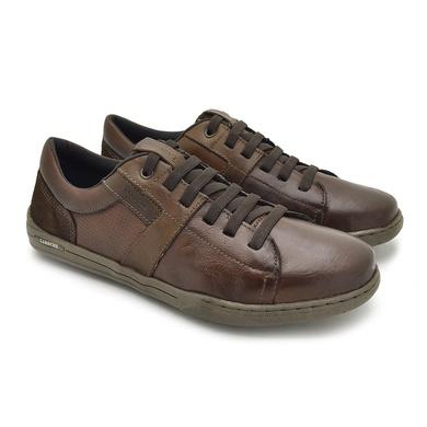 Sapatenis Boxter Masculino em Couro - Brown/Tan - 06703-2000 - Calçados Laroche