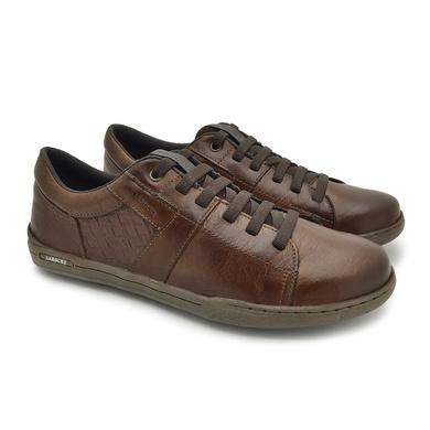 Sapatenis Boxter Masculino em Couro - Brown/Whisky - 06703-2813 - Calçados Laroche