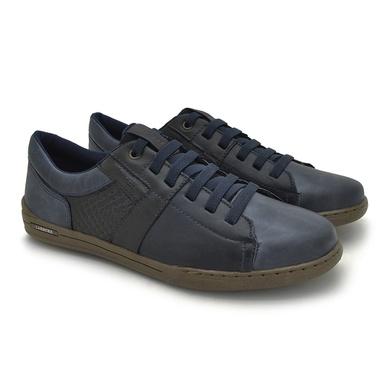 Sapatenis Boxter Masculino em Couro - Azul/Preto - 06703-3021 - Calçados Laroche