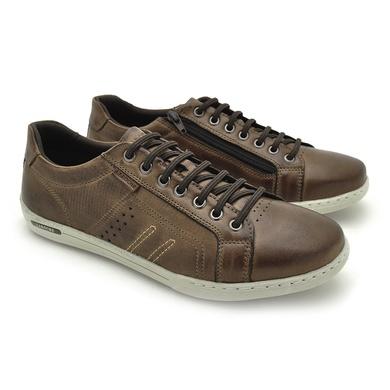 Sapatenis Boxter Masculino - Chocolate/Whisky - 06713-2673 - Calçados Laroche